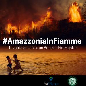Amazzonia in fiamme